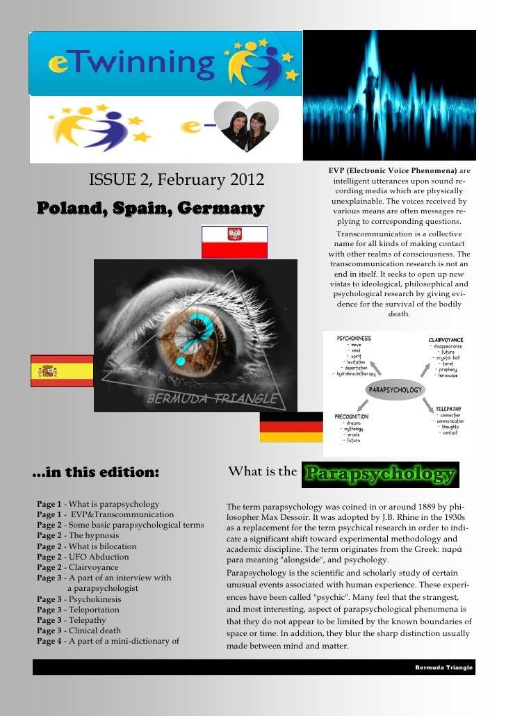 EVP (Electronic Voice Phenomena) are             ISSUE 2, February 2012                                       intelligent ...