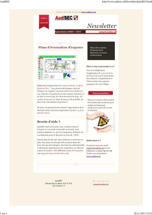 AudiSEC                                                                                 http://www.audisec.ch/Newsletter/j...