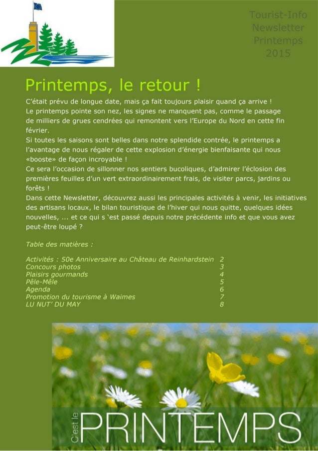 Newsletter printemps 2015 fr