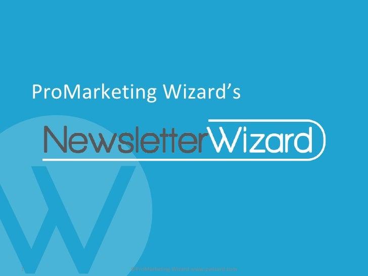 ProMarketing Wizard's ©ProMarketing Wizard www.pwizard.com