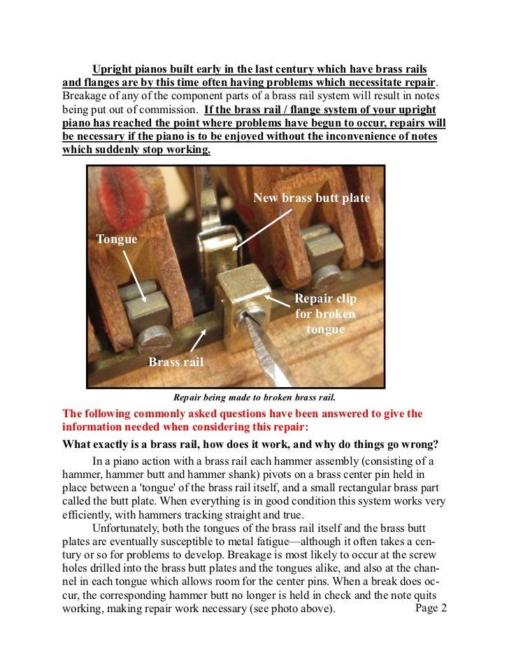 Newsletter 17   brass rail repair Slide 2