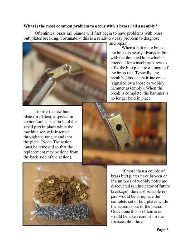 Newsletter 17   brass rail repair Slide 3