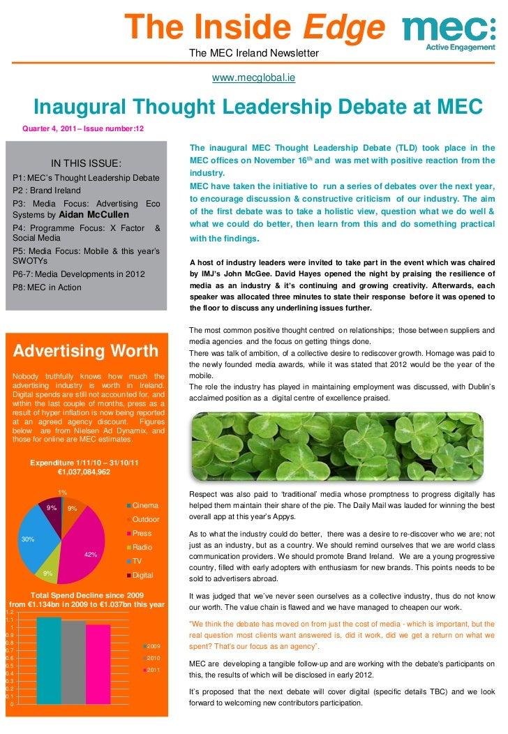 The Inside Edge                                                    The MEC Ireland Newsletter                             ...