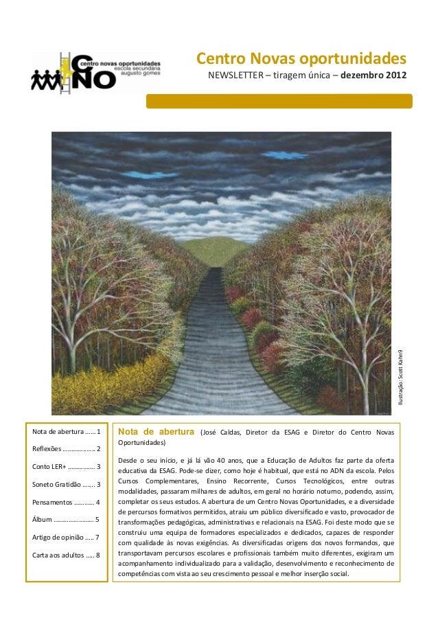 Centro Novas oportunidades                                                       NEWSLETTER – tiragem única – dezembro 201...