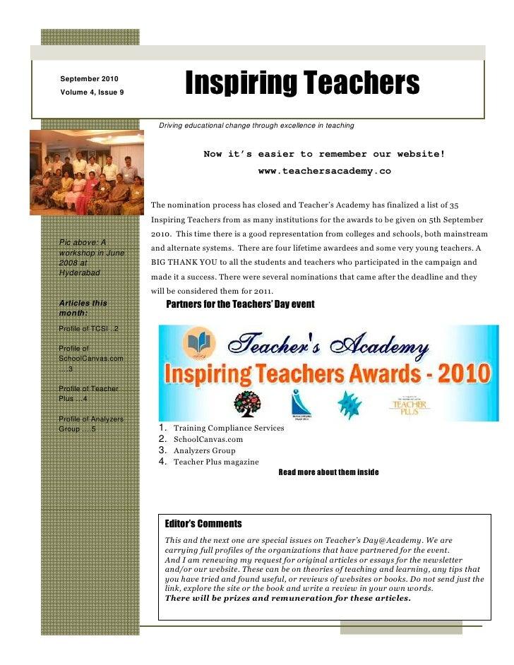 Newsletter Sept 2010