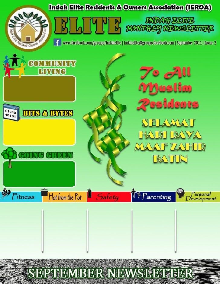 Indah Elite Resident & Owners Association (IEROA)                               EDITORIAL                               ww...