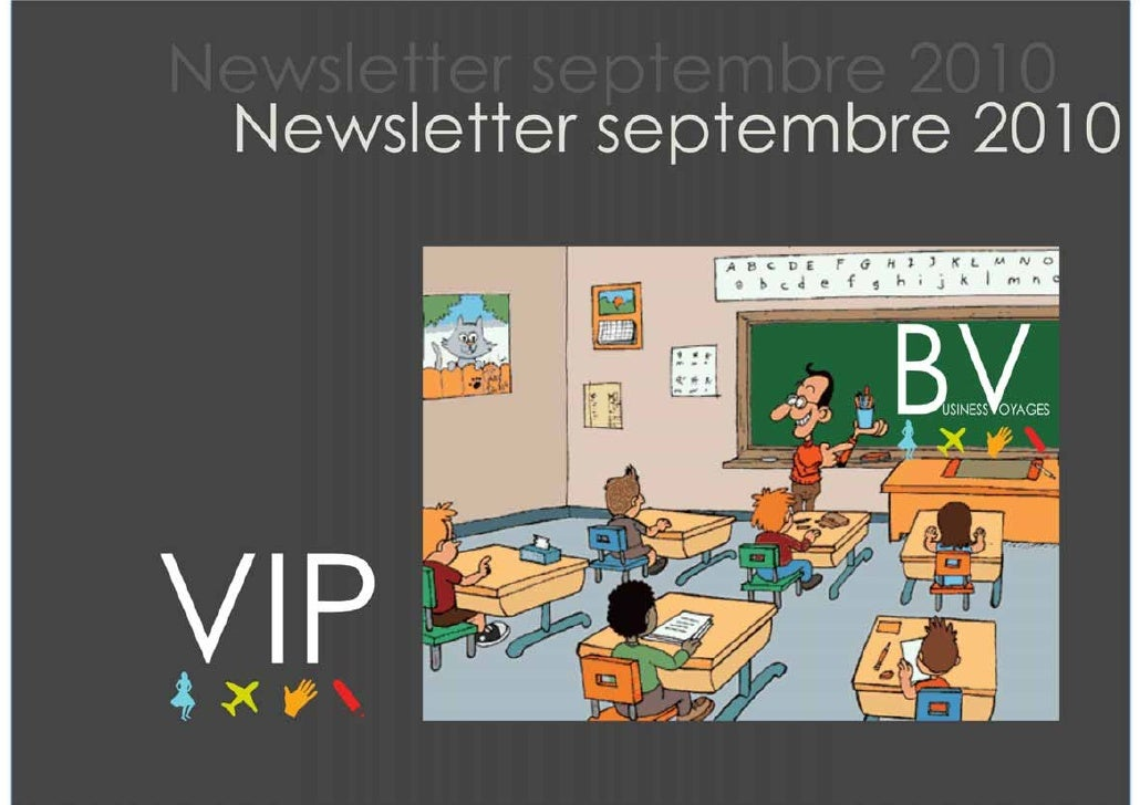 Newsletter VIP septembre 2010