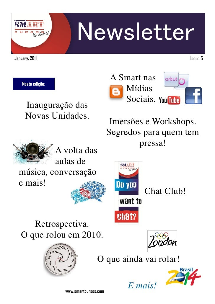 Newsletter January, 2011                                                   Issue 5                                        ...
