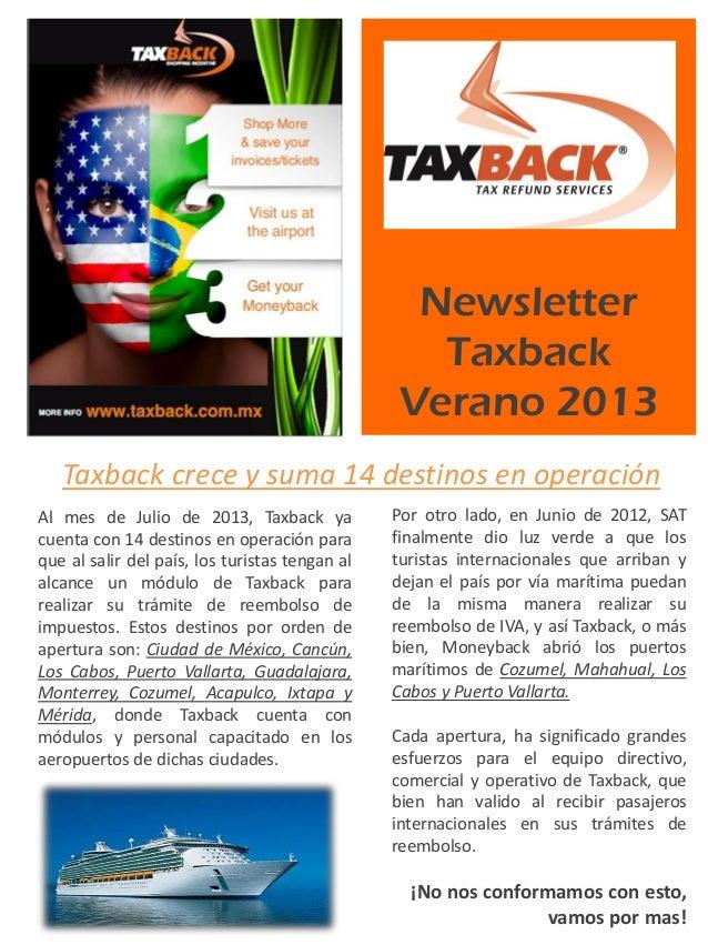 Newsletter Taxback 2013
