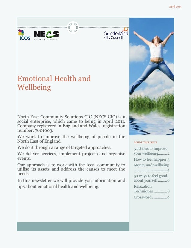 Emotional Health and Wellbeing North East Community Solutions CIC (NECS CIC) is a social enterprise, which came to being i...