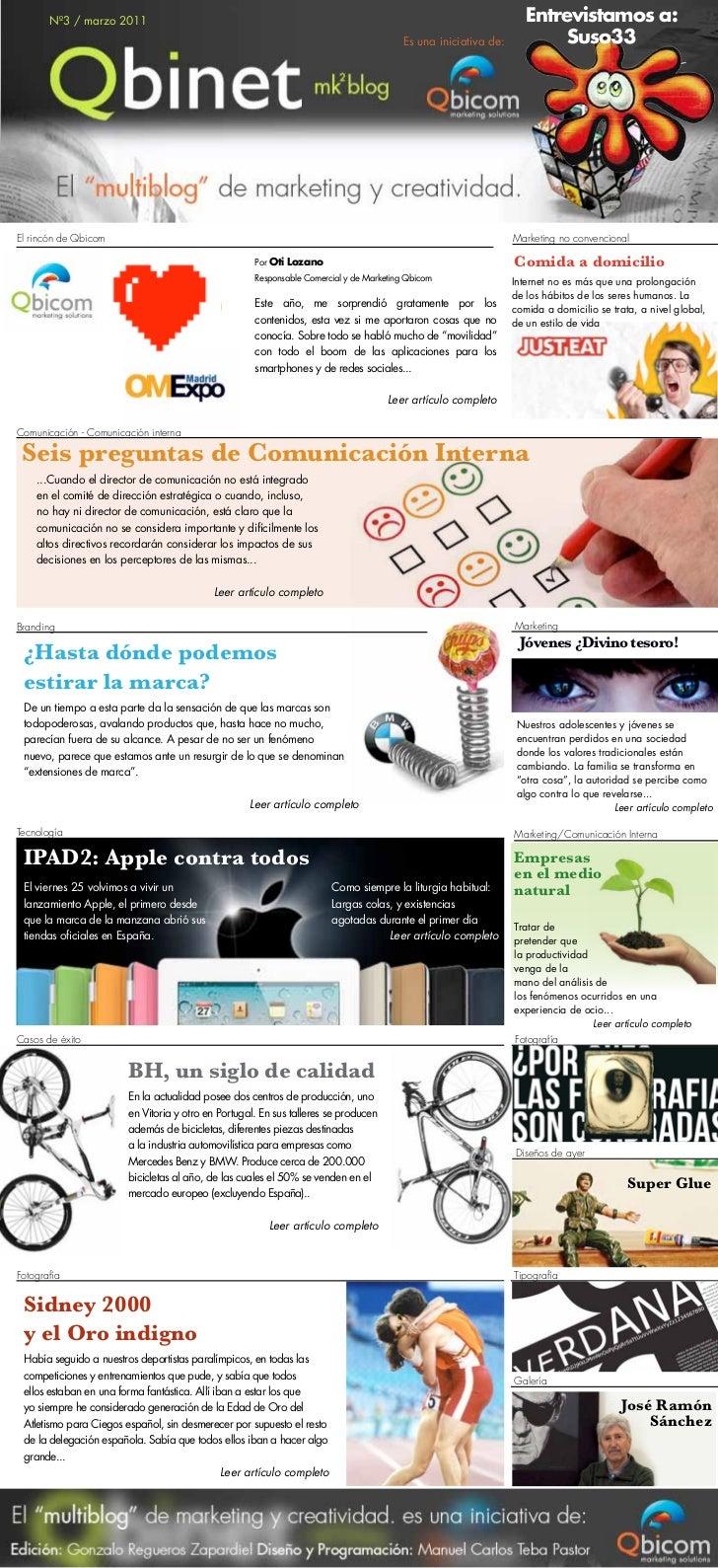 Nº3 / marzo 2011                                                                                            Entrevistamos ...