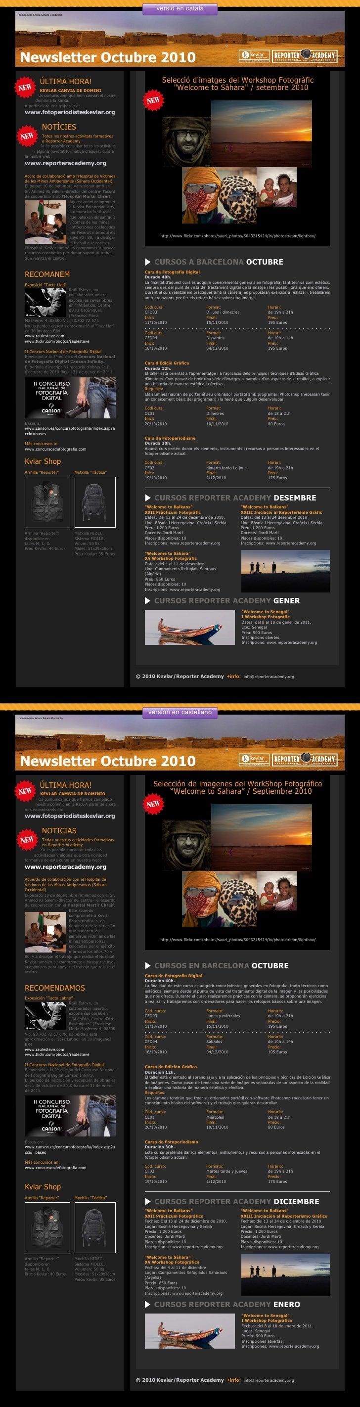 versió en català campament Smara Sahara Occidental     Newsletter Octubre 2010                 ÚLTIMA HORA!               ...