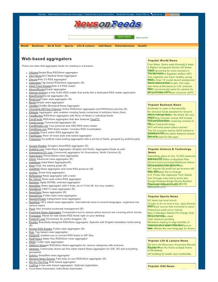SiteMap  MakeNewsonFeedsyourhomepage!Dragthislinktoyourhomebutton  Bookmark!thispagePressCTRLD  ...