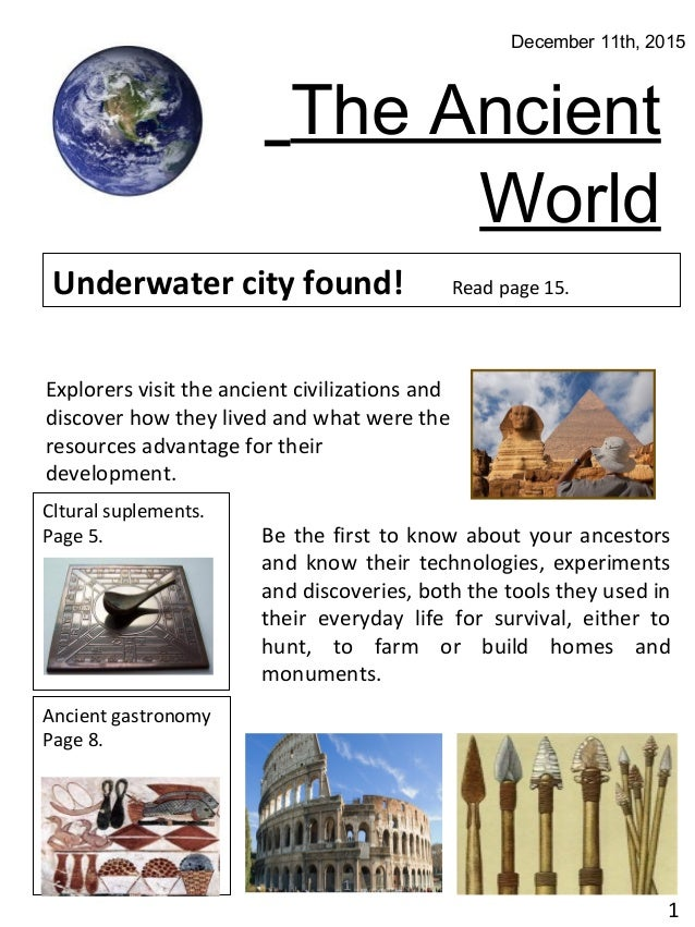 Ancient world newspaper the ancient world december 11th 2015 underwater city found read page 15 publicscrutiny Gallery