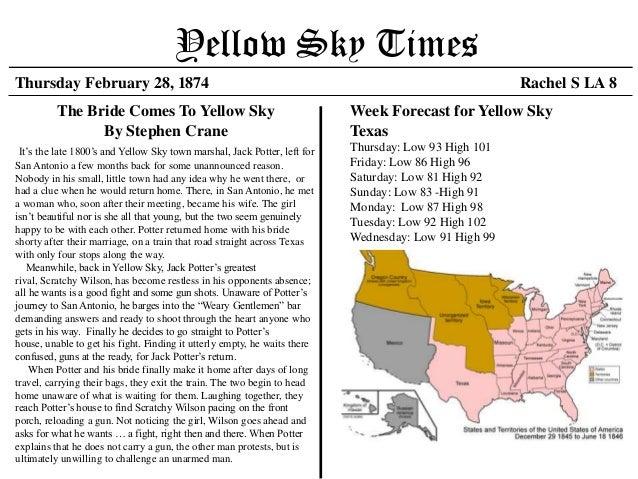Yellow Sky TimesThursday February 28, 1874                                                                             Rac...