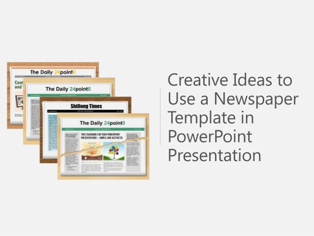 Newspaper Template Powerpoint Presentations