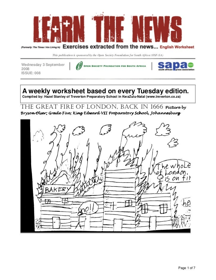 This publication is sponsored by the Open Society Foundation for South Africa (OSF-SA)   Wednesday 3 September 2008 ISSUE:...