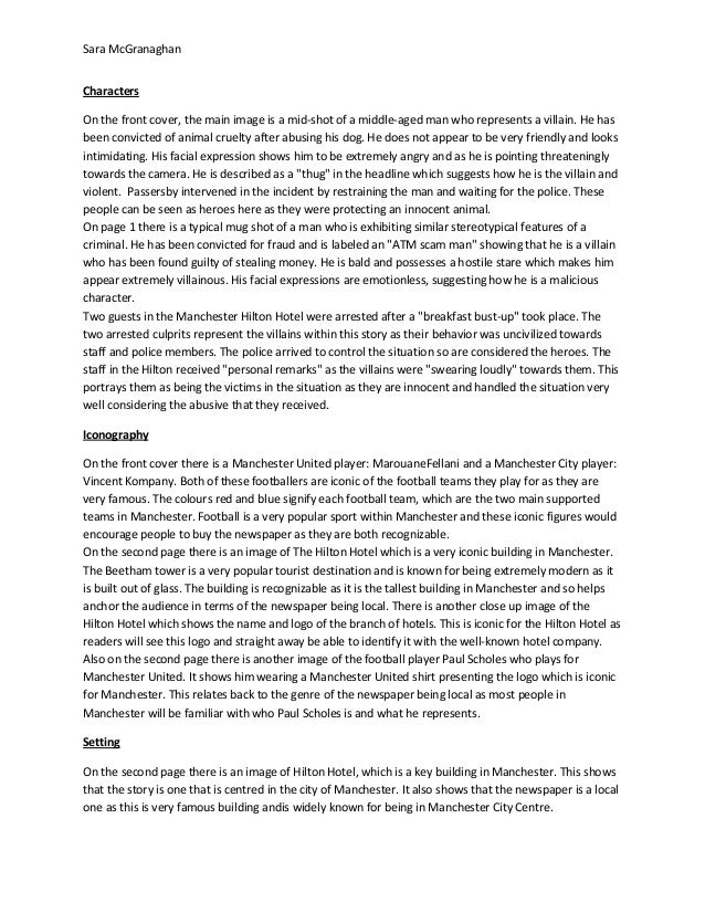 Newspaper analysis 1 Slide 3