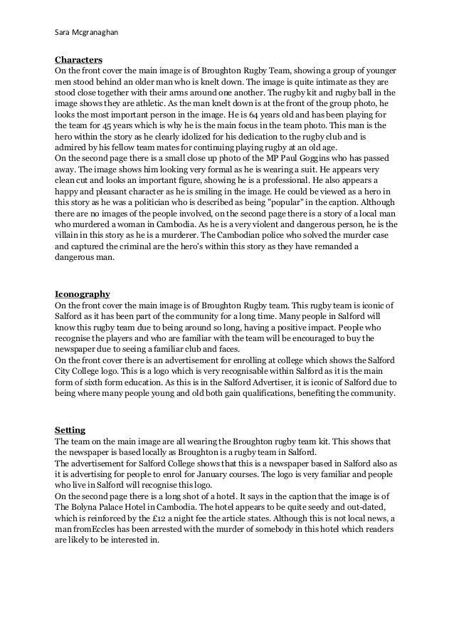 Newspaper analysis 2 Slide 3