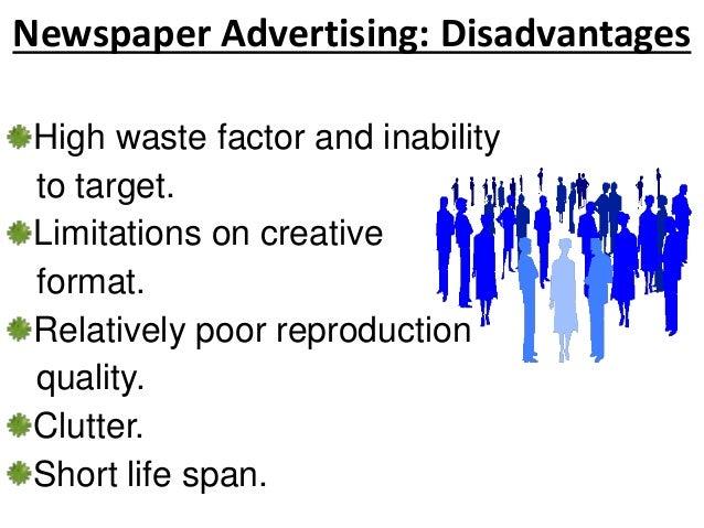 print media advertising advantages and disadvantages