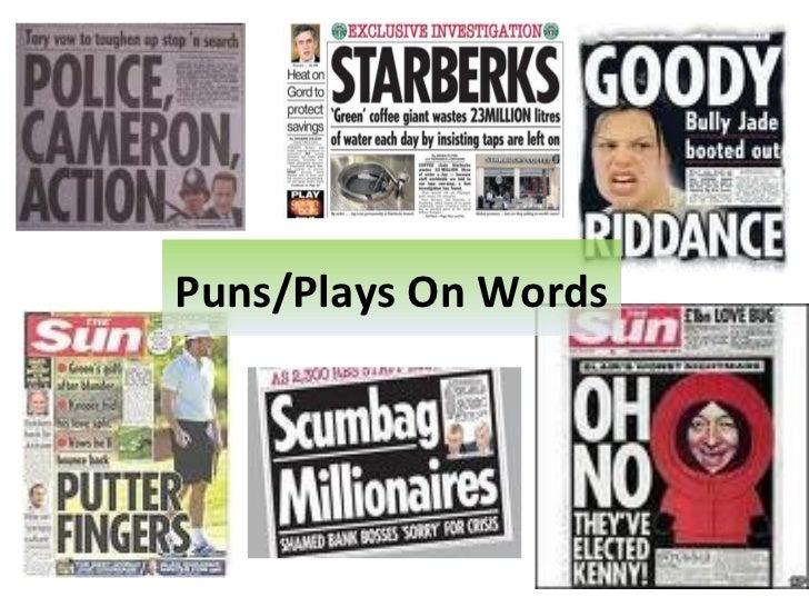 Newspaper headlines and leads