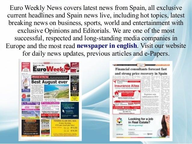 Newspaper in english
