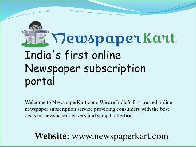 newspaper subscription deals india