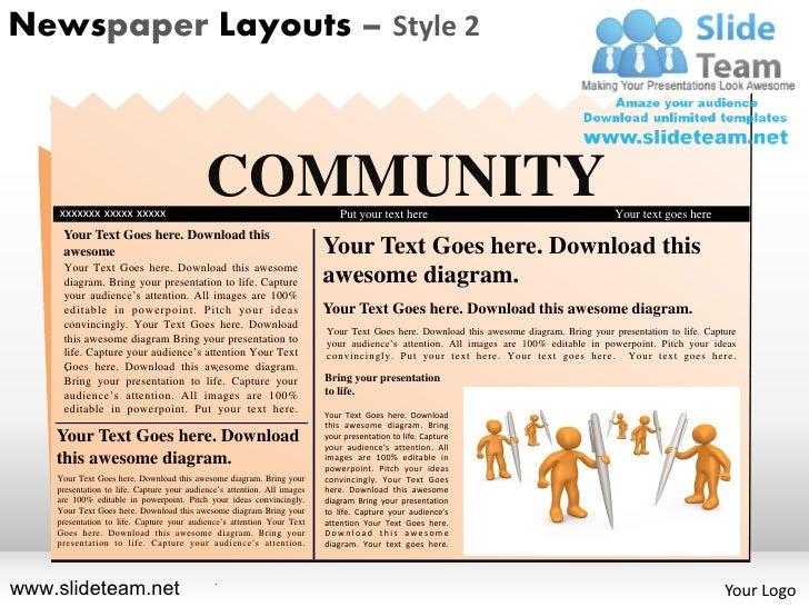 Newspaper Layouts – Style 2    xxxxxxx xxxxx xxxxx                                            COMMUNITY                   ...