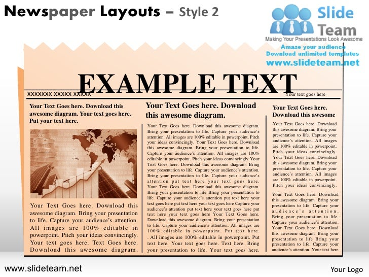 newspaper layouts design 2 powerpoint ppt templates