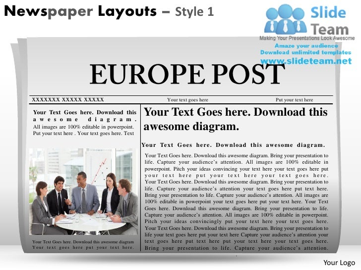 Newspaper Layouts Style  Powerpoint Presentation Slides Ppt Templates