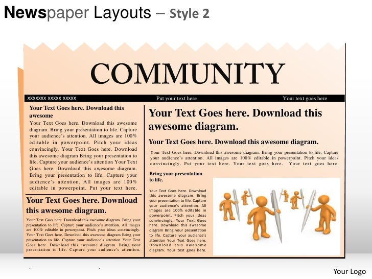 Newspaper Layouts Style 2 Powerpoint Presentation Templates