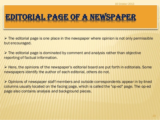 How to write an opinion article school newspaper positions
