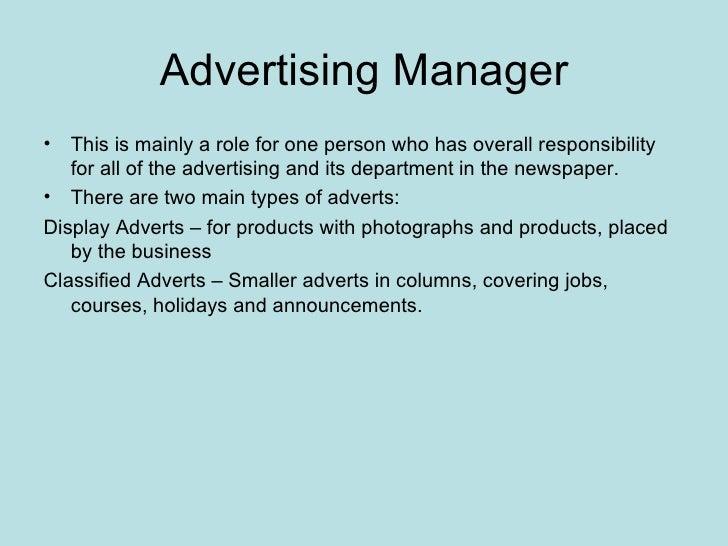 Newspaper roles