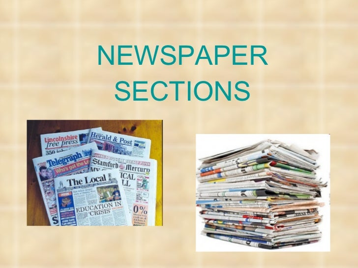 Newspaper Sections