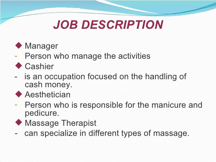 Attractive Occupation Overview Beauty Spa