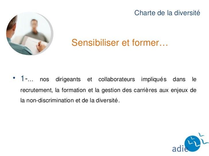 Charte de la Diversité  Slide 2