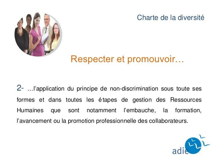 Charte de la Diversité  Slide 3