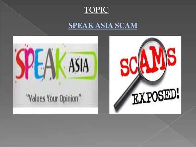 TOPICSPEAK ASIA SCAM