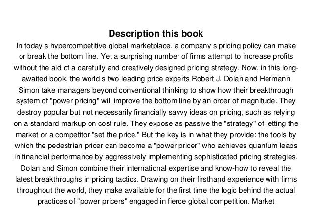3b9f5cf1b0a6f NEWS] Power Pricing: How Managing Price Transforms the Bottom Line…