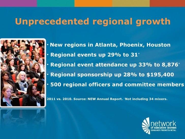 Unprecedented regional growth     • New regions in Atlanta, Phoenix, Houston     • Regional events up 29% to 31*     • Reg...