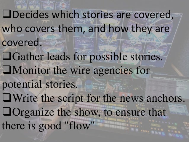 duties of a news producer 5 - Duties Of A Producer