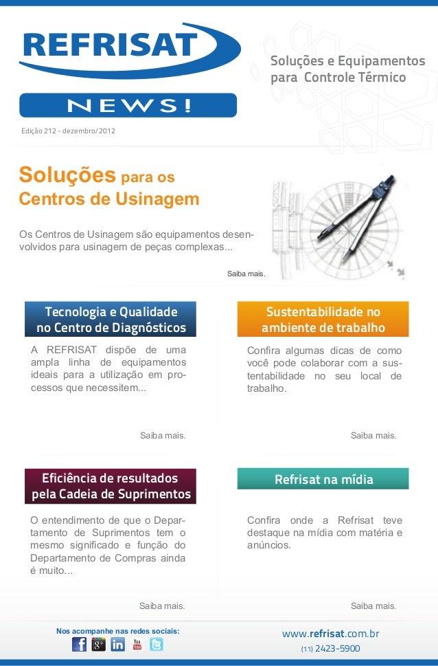 Soluções e Equipamentos                                                          para Controle Térmico            NEWS!Edi...
