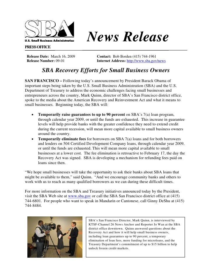 News Release PRESS OFFICE   Release Date: March 16, 2009              Contact: Bob Borden (415) 744-1961  Release Number: ...