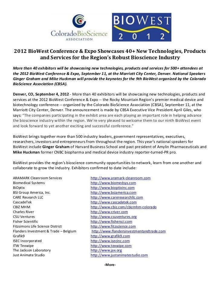 2012BioWestConference&ExpoShowcases40...