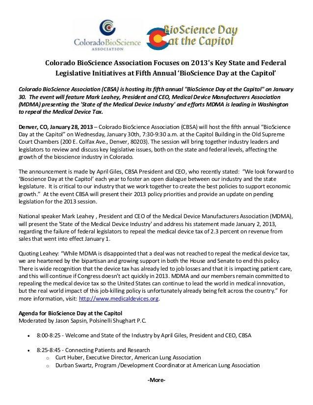 ColoradoBioScienceAssociationFocuseson2013sKey...