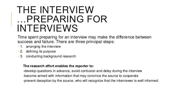 an analysis of the five steps in preparing for an interview It shows you put effort in preparing for the interview however, never ask questions just to ask questions the interviewer will see right through that your questions should be genuine and relevant 7 steps to prepare for your job interview.