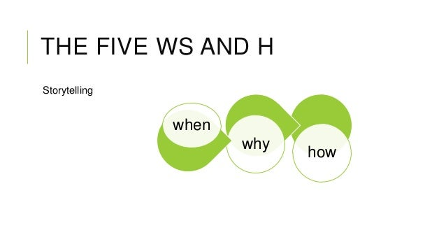 THE FIVE WS AND H Storytelling  when why  how