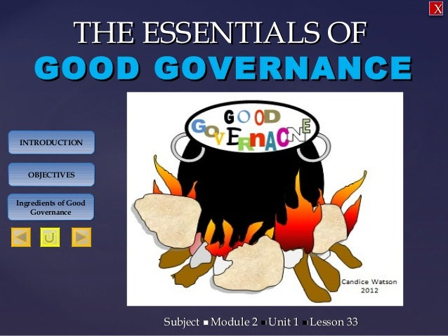 social studies good governance sec3
