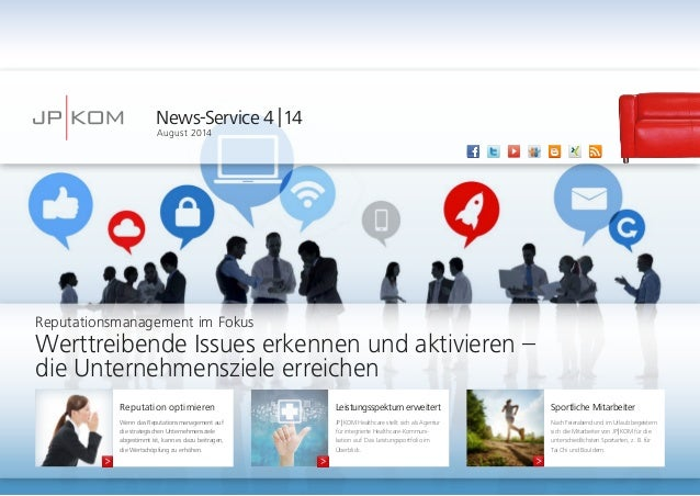 News-Service 4 | 14  August 2014  Leistungsspektum erweitert  JP | KOM Healthcare stellt sich als Agentur  für integrierte...