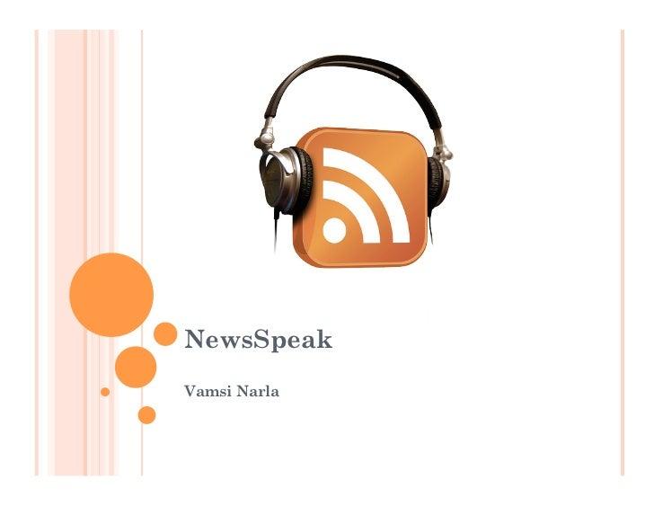 NewsSpeakVamsi Narla